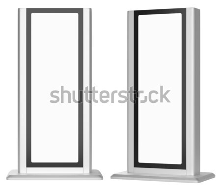 Outdoor advertising stand banners Stock photo © cherezoff