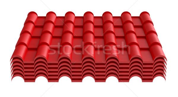 Roof tile, isolated on white background Stock photo © cherezoff