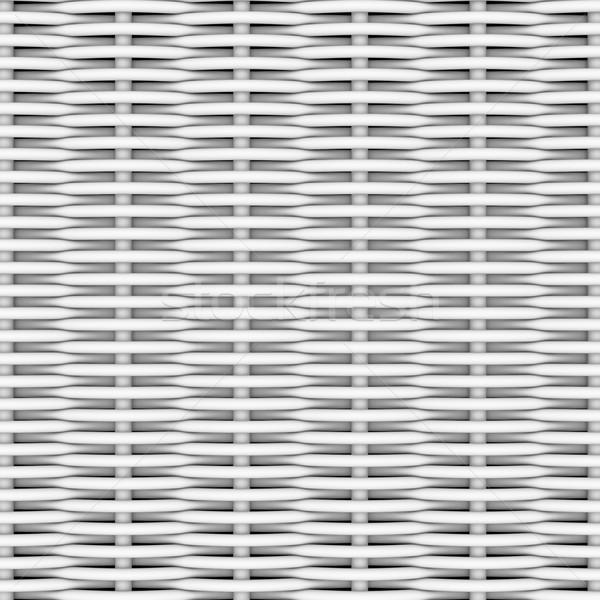 White woven rattan Stock photo © cherezoff