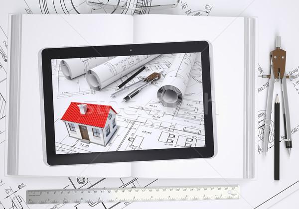Piccolo casa disegni tablet schermo libro for Disegni di casa piano aperto