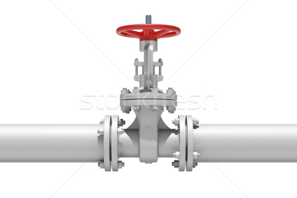 White industrial valves and pipe Stock photo © cherezoff