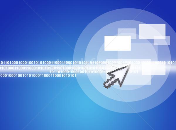 Kurzor kisajtolás virtuális képernyő számok kék Stock fotó © cherezoff