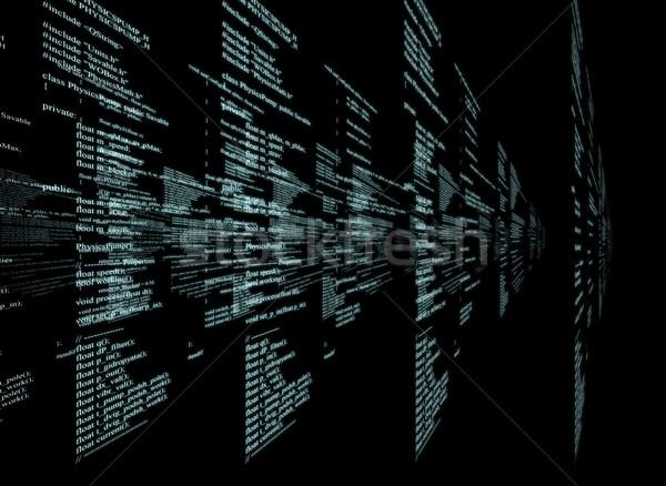 Matrix on black Stock photo © cherezoff