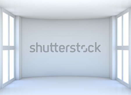 Showroom with white screen on front wall Stock photo © cherezoff