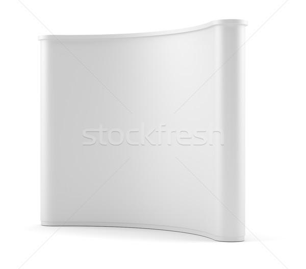 Advertising space on white background Stock photo © cherezoff
