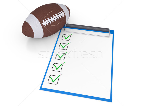Checklist and football ball Stock photo © cherezoff