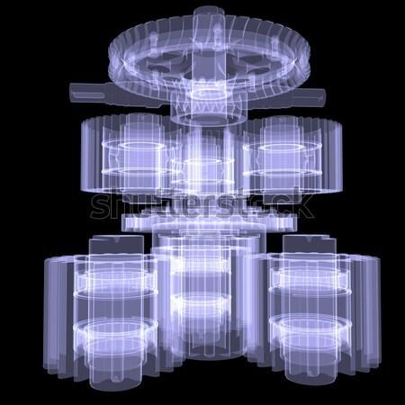 Loader. X-ray Stock photo © cherezoff