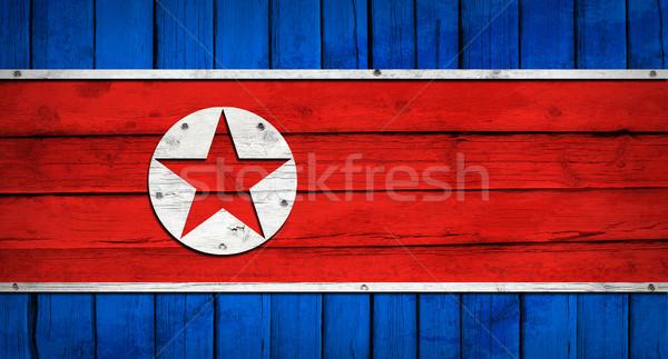 Zdjęcia stock: Na · północ · banderą · malowany · grunge · stylu