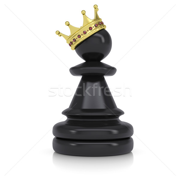 Pawn with gold crown Stock photo © cherezoff