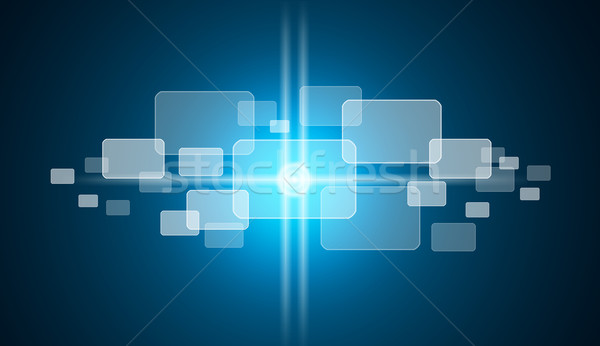 Transparent rectangles on blue background Stock photo © cherezoff