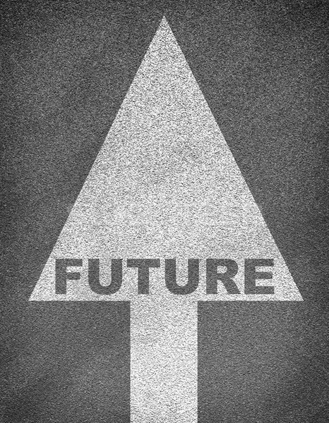 Stock photo: Asphalt road texture with arrow and word future