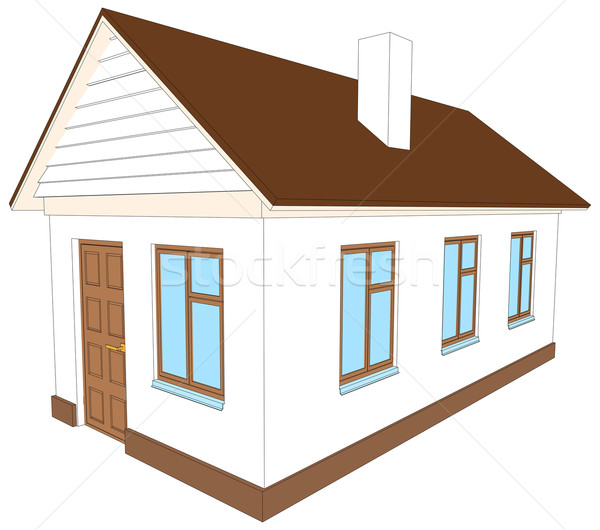 New house with chimney. Vector illustration Stock photo © cherezoff