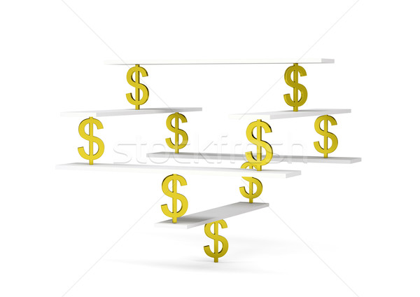 Financial balance with dollar sign on white Stock photo © cherezoff