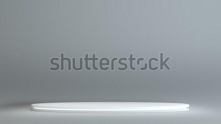 Witte podium grijs tentoonstelling licht lampen Stockfoto © cherezoff