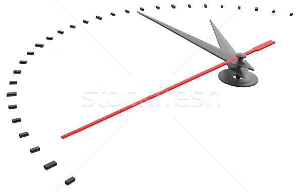Сток-фото: часы · номера · изолированный · 3D · белый