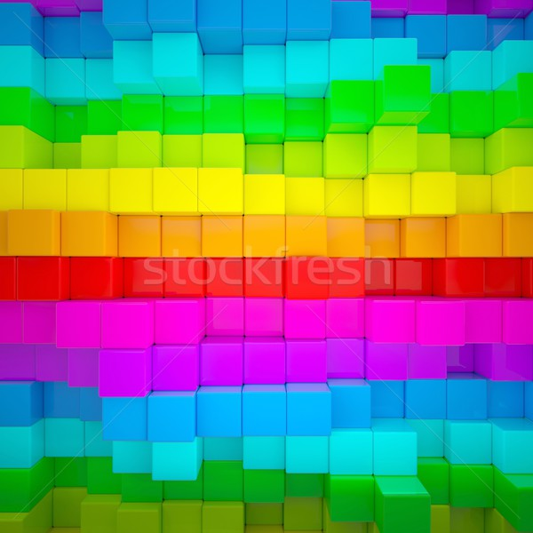 аннотация стены 3d визуализации текстуры Сток-фото © cherezoff
