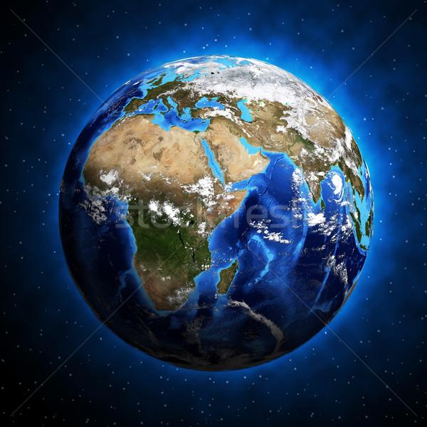 Toprak dünya gezegeni gezegen elemanları görüntü gökyüzü Stok fotoğraf © cherezoff