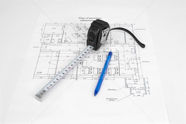 Construction drawing. Desk builder Stock photo © cherezoff