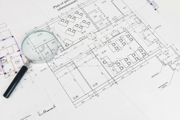 Construction drawing. The desk architect Stock photo © cherezoff
