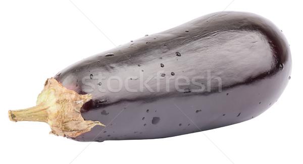 Fresh aubergine on white Stock photo © cherezoff