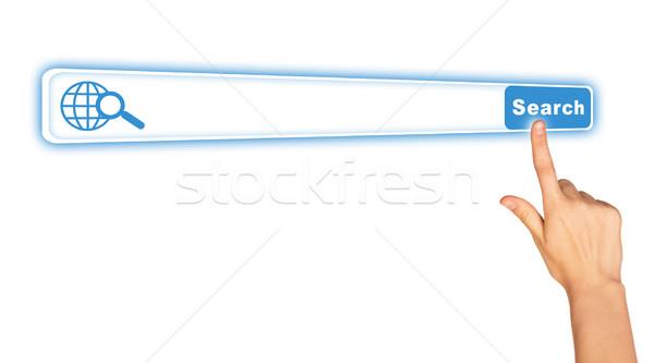 Humans hand on white Stock photo © cherezoff