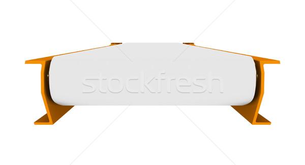 Transporter on white, front view Stock photo © cherezoff