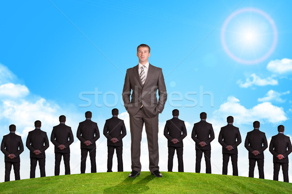 Set of businessmen and nature background Stock photo © cherezoff