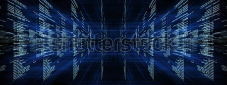 Matriz azul símbolos código negócio Foto stock © cherezoff