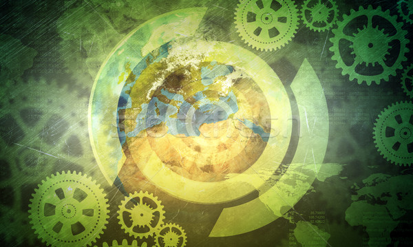 Abstract background with cog wheels Stock photo © cherezoff