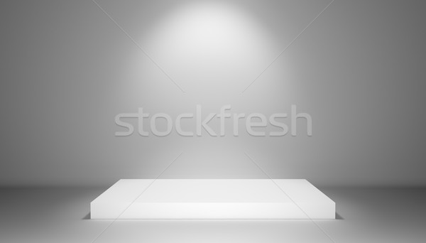 Pedestal with light source, 3D illustration Stock photo © cherezoff
