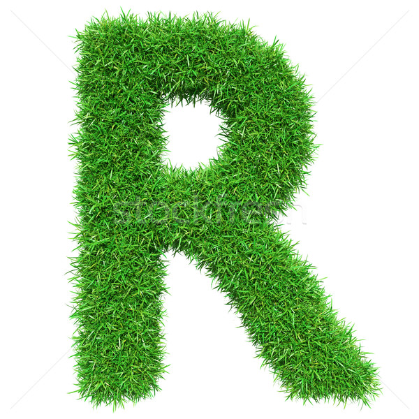 Green Grass Letter R Stock photo © cherezoff