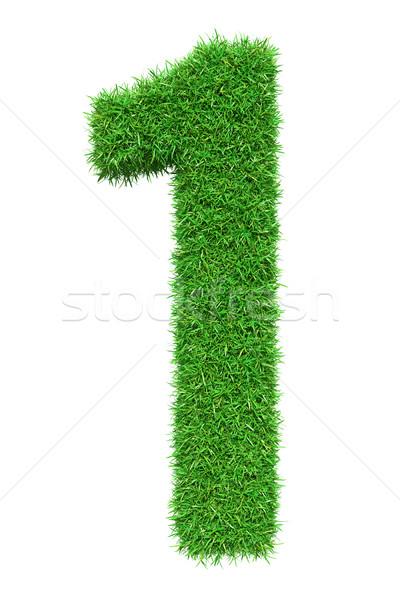 Green grass number 1 Stock photo © cherezoff