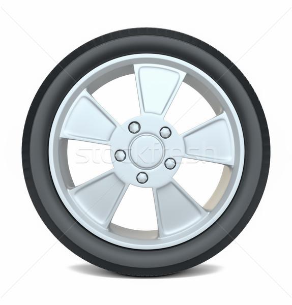High Quality Car Wheel, Isolated Stock photo © cherezoff