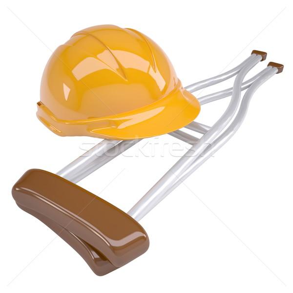 Helmet and crutches Stock photo © cherezoff