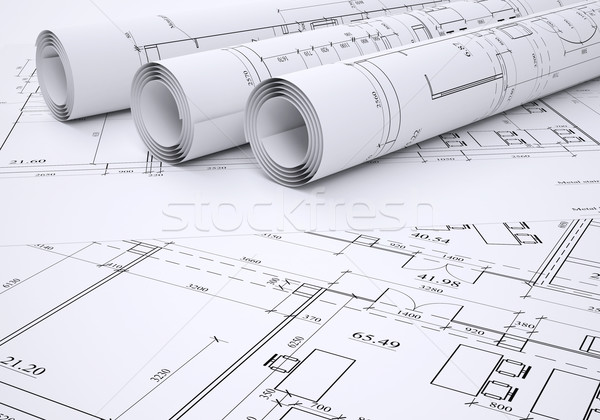 Stock photo: Architectural drawings