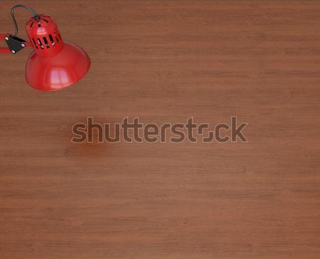 Desktop surface and lamp Stock photo © cherezoff