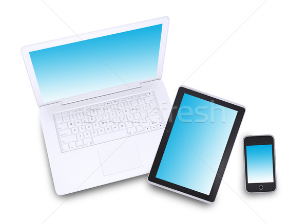 Laptop, tablet pc and smartphone Stock photo © cherezoff