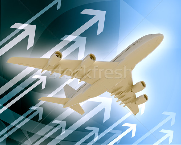 Jet with arrows Stock photo © cherezoff