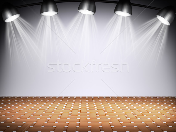 Stock photo: Illuminated empty concert stage