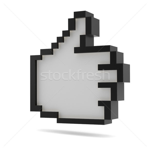черно белые Пиксели стиль дизайна 3d иллюстрации Сток-фото © cherezoff