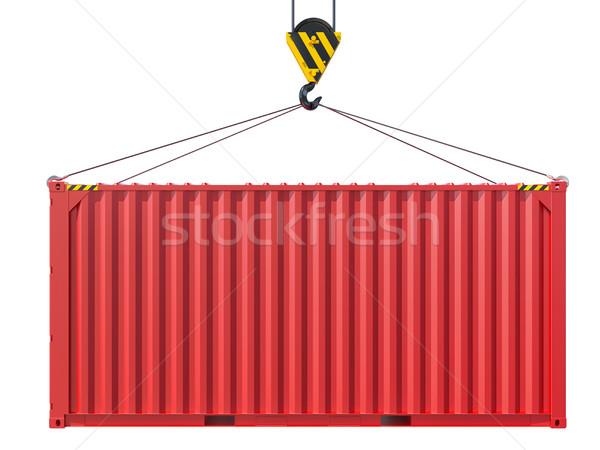 állvány kampó fém konténer izolált fehér Stock fotó © cherezoff