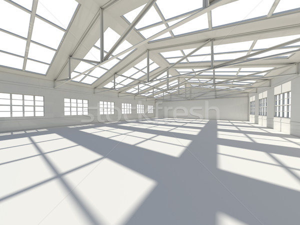 Large modern empty storehouse Stock photo © cherezoff