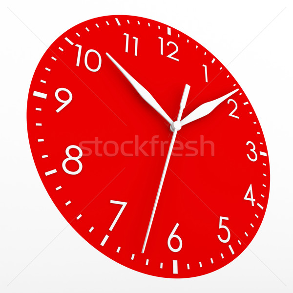 Red clock face Stock photo © cherezoff