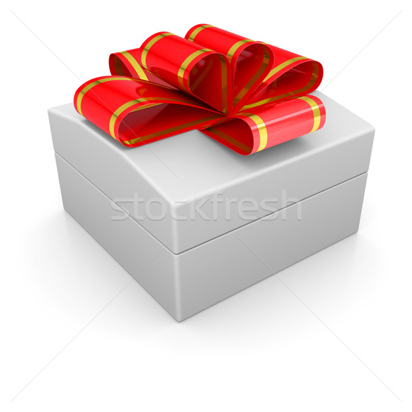 Jewelry box with a ribbon Stock photo © cherezoff