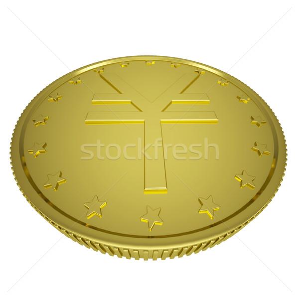 золото иена изолированный оказывать белый деньги Сток-фото © cherezoff