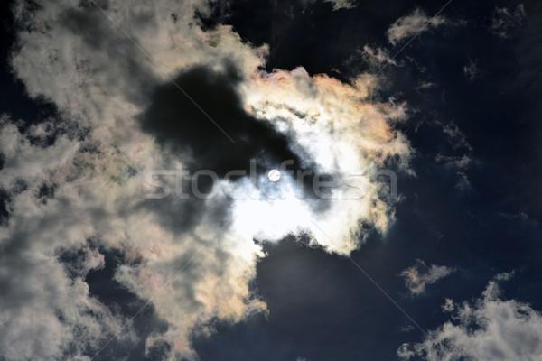 Dark sky. Clouds and sun Stock photo © cherezoff