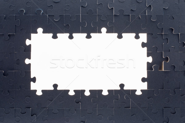 Grey puzzle background with empty space Stock photo © cherezoff