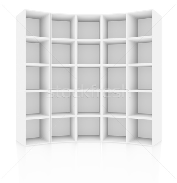 Empty white cabinet, isolated Stock photo © cherezoff