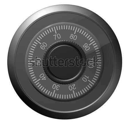 Safe combination lock. Knob with figures Stock photo © cherezoff