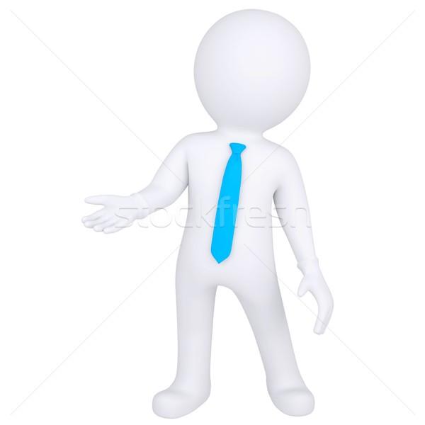 3d white man standing Stock photo © cherezoff